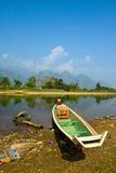 Een boot Met lange staart in de Rivier van het Lied Royalty-vrije Stock Foto