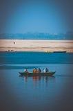 Een boot op Ganges Royalty-vrije Stock Afbeelding