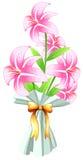 Een boquet van verse bloemen Stock Afbeeldingen