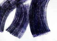 Een borstel trekt drie brede helft-gevleugelde lijnen Magische Dans royalty-vrije stock afbeelding