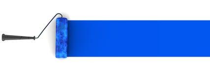 Blauwe verfborstel royalty-vrije illustratie