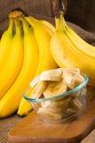 Een bos van bananen Stock Foto