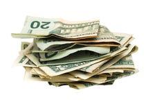 Een bos van de contant gelddollar Stock Fotografie