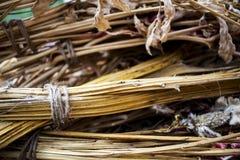 Een bos van droge takbloem met kabelachtergrond Stock Foto's