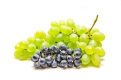 Een bos van druiven groene en blauwe kleuren Royalty-vrije Stock Afbeelding