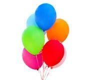 Een bos van gelukkige vliegende ballen Royalty-vrije Stock Afbeeldingen
