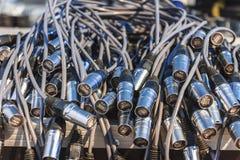 Een bos van kabels Royalty-vrije Stock Foto's