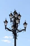 Een bos van lichten met een kruis Royalty-vrije Stock Afbeelding