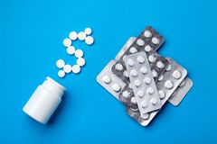 een bos van medische producten stock foto