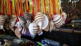Een bos van ornamenten van zeeschelpen Stock Afbeeldingen