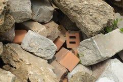 Een bos van stenen sluit omhoog Royalty-vrije Stock Afbeeldingen