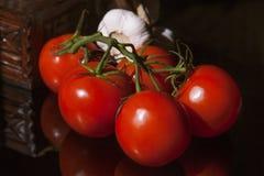 Een bos van tomaten Stock Afbeeldingen