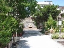 Een botanische tuin in Luca in Italië Stock Fotografie