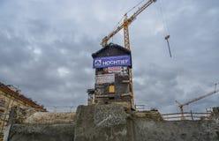 Een bouwwerf in Praag, Czechia royalty-vrije stock foto's
