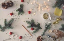 Een brief aan Kerstman Royalty-vrije Stock Foto's
