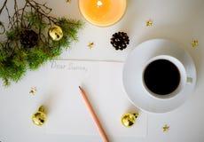 Een brief aan Kerstman Stock Afbeeldingen