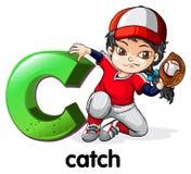 Een brief C voor vangst vector illustratie
