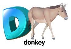 Een brief D voor ezel Royalty-vrije Stock Foto