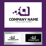 Een Brief Logo Design Vector Business Card Royalty-vrije Stock Afbeeldingen