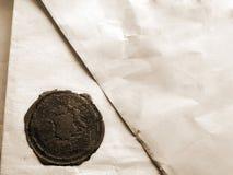 Een brief met verbinding Stock Afbeelding