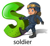 Een brief S voor militair Royalty-vrije Stock Foto
