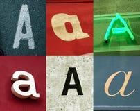 Een brief - Stedelijke inzameling Stock Fotografie