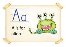 Een brief A voor vreemdeling vector illustratie