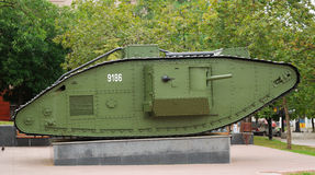 Een Brits Teken V tank royalty-vrije stock foto's