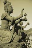 Een bronsstandbeeld van fee in Hongkong Stock Afbeeldingen
