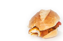 Een broodje met kotelet Royalty-vrije Stock Foto
