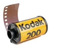 Een broodje van Kodak 35mm camerafilm Stock Foto