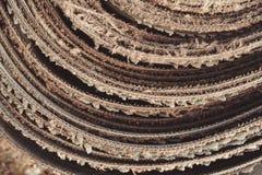 Een broodje van oud rubber royalty-vrije stock fotografie
