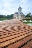 Een brug en het kasteel van Horst royalty-vrije stock afbeelding