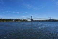 Een brug in New York stock afbeelding