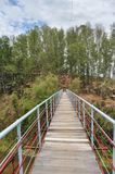 Een brug onder de rivier in Vietnam royalty-vrije stock afbeeldingen