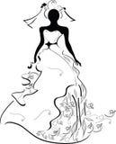Een bruid stock illustratie