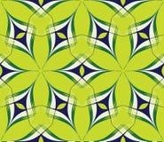 Een bstract helder naadloos patroon op green Stock Afbeeldingen