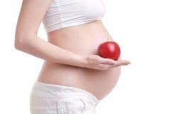 Een buik van zwangere vrouw Royalty-vrije Stock Afbeelding