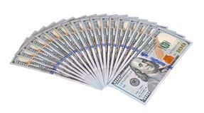 Een bundel van geld op lijst 10 Royalty-vrije Stock Fotografie