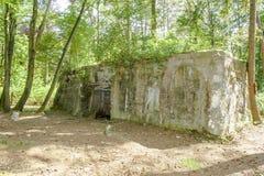 Een Bunker van wereldoorlog 1 op de gebieden van Vlaanderen royalty-vrije stock foto