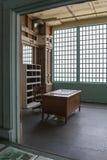 Een bureau binnen van Nieuwe Indusctries die op Alcatraz Isl voortbouwen royalty-vrije stock foto's