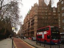 Een bus in Londen, Engeland stock fotografie
