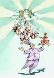 Een cake die engelen vangen royalty-vrije illustratie
