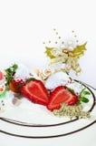 Een cake van Kerstmis stock afbeelding