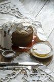 Een cake van maïsbloem die wordt gemaakt. Retro stijl. Stock Foto's