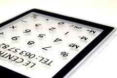 Een calculator voor de wiskunde Stock Foto