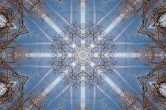 Een caleidoscoop, abstracte fantasie, illustratie, Royalty-vrije Stock Afbeelding