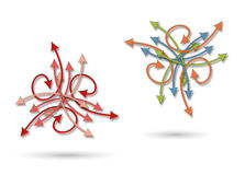 Een chaotisch pijlenpatroon royalty-vrije illustratie