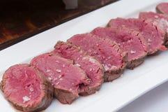Een chateaubriand of haasbiefstuklapje vlees Royalty-vrije Stock Afbeelding