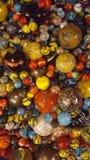 Een childs marmeren inzameling Stock Afbeelding